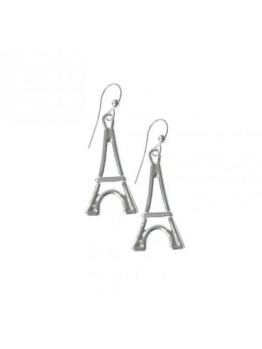 Silver plated Earring Big Eiffel Tower