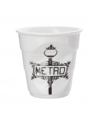 Gobelet Froissé Porcelaine Revol Metro 18 cl