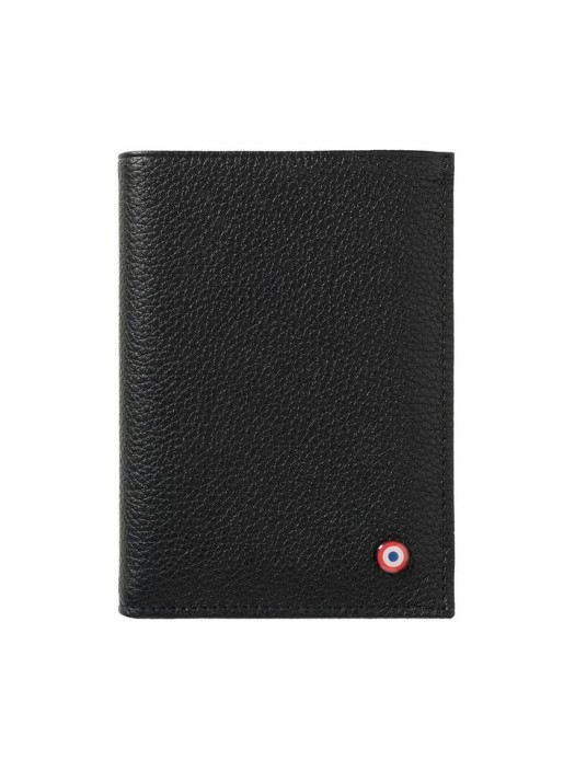 Full Grain Nubuck Cow Leather Wallet Black