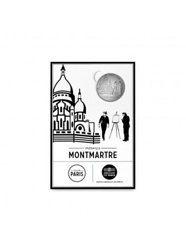 Montmartre Postcard with Mini-Medal