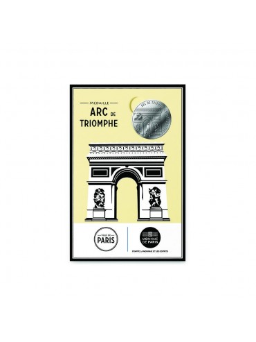 Arc de Triomphe Postcard with Mini-Medal Monnaie de Paris