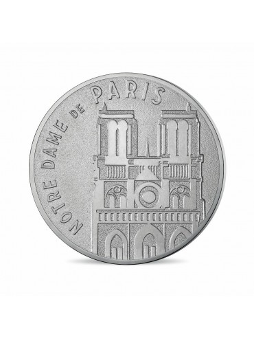 Notre Dame postcard with Mini-Medal