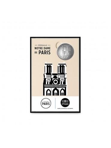 Notre Dame Postcard with Mini-Medal Monnaie de Paris