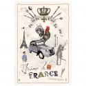 France Diaporama Cotton Kitchen Towel