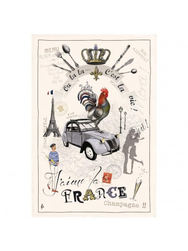 France Diaporama Cotton Kitchen Towel