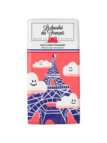 Tablette de Chocolat Lait & éclats d'amandes - Bio