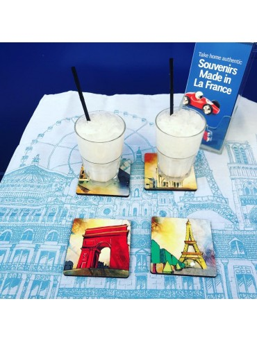 Pack 4 Dessous de Verre Monuments de Paris