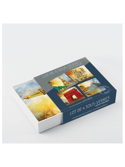 Paris Paris Resin Coasters - Gien