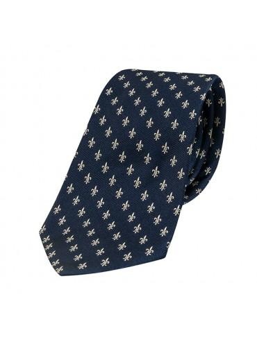 Cravate Soie Fleur de Lys