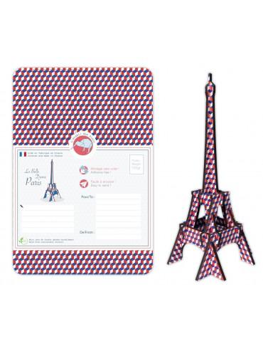 DIY Eiffel Tower Blue White Red