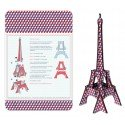 DIY Eiffel Tower Blue White Red