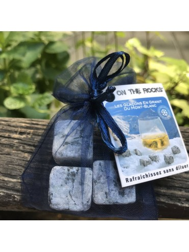 3 Glaçons Granit du Mont-Blanc bleu