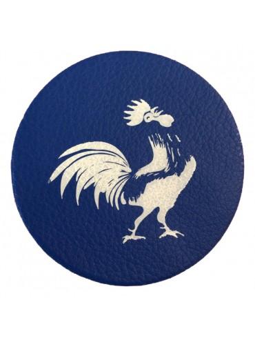 Dessous de Verre Coq Bleu