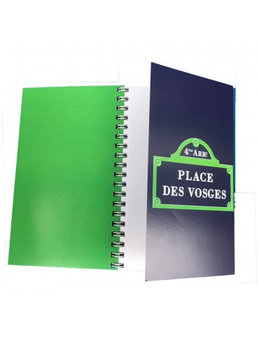 Spiral Notebook with Flap - Place des Vosges