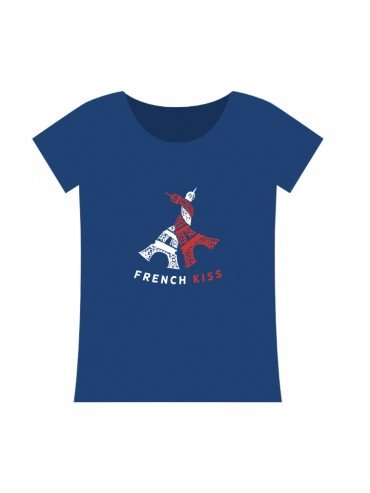 100% Cotton T-Shirt - French Kiss Blue