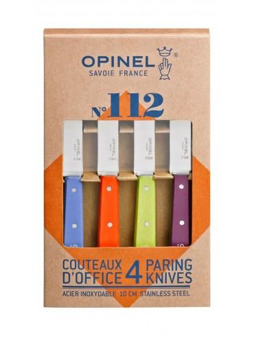 Coffret 4 couteaux Opinel Offices Couleurs Acidulées