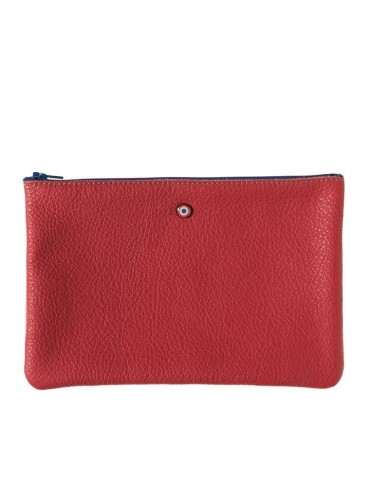 Red Ruby Upcycling Cowhide Leather Pouch - Larmorie