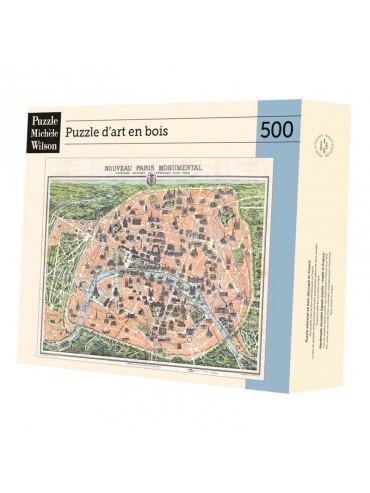 Puzzle Adulte 500 pièces Plan de Paris Monumental