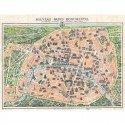 Adult Puzzle 500 pieces Monumental Map of Paris