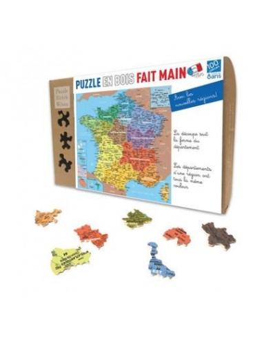 Puzzle Enfant 24 pièces Carte Régions de France
