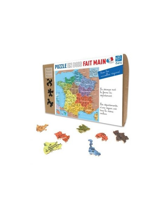Puzzle for Children 24 pieces Map Regions of France