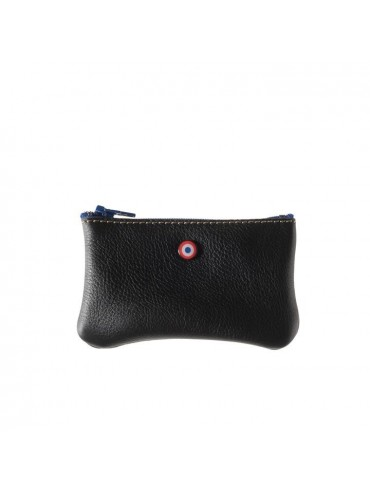 Black Upcycling Cowhide Leather Wallet - Larmorie