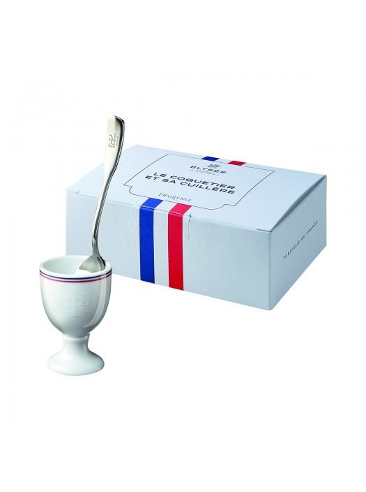 Gift Box Egg Cup + Spoon - French Republic - DEGRENNE Elysée