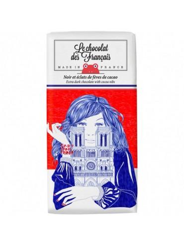 Tablette de Chocolat Noir 71% & éclats de fèves de cacao - Bio