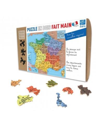 Puzzle Enfants 100 pièces Carte Départements France