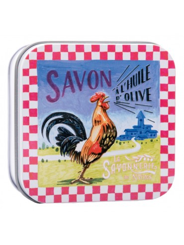 Soap 100g Vintage Metal Box French Rooster - Scented Verbena