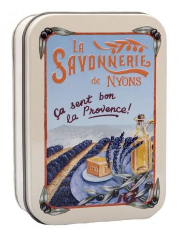 Savon 200g  Boite Metal Vintage La Lavande - Parfumé à la Lavande