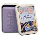 Soap 200g Vintage Metal Box Lavender - Scented Lavender