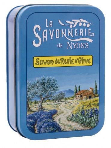 Savon 200g  Boite Metal Vintage La Provence - Parfumé à la Lavande