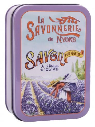 Savon 200g  Boite Metal Vintage La Cueillette - Parfumé à la Lavande