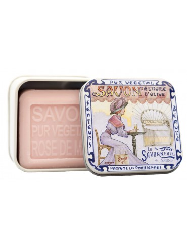Soap 100g  Vintage Metal Box Metro - Scented  Rose of May