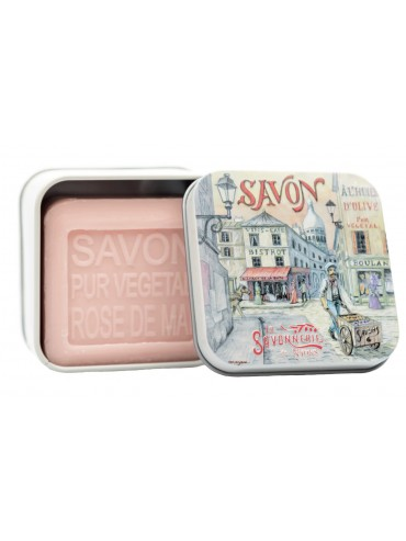 Soap 100g  Vintage Metal Box Montmartre - Scented  Rose of May