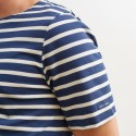 Saint-James Breton Stripe Short Sleeve Shirt Unisex Fit Navy/Ecru