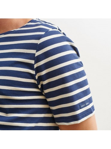 Saint-James Breton Stripe Short Sleeve Shirt Unisex Fit Navy/Ecru