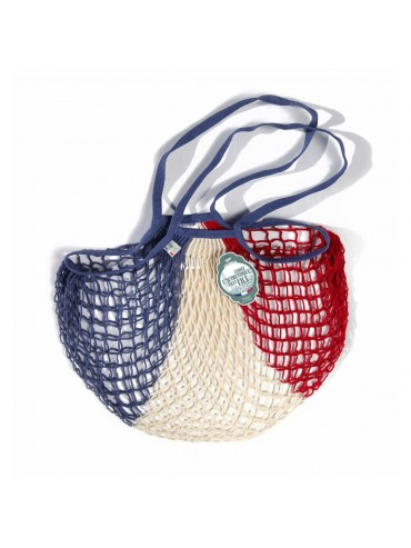 Shopping String Bag Blue White Red