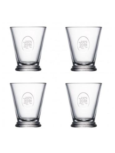 Gift Box of 4 Glasses Tumblers - République Française - La Rochère Elysée