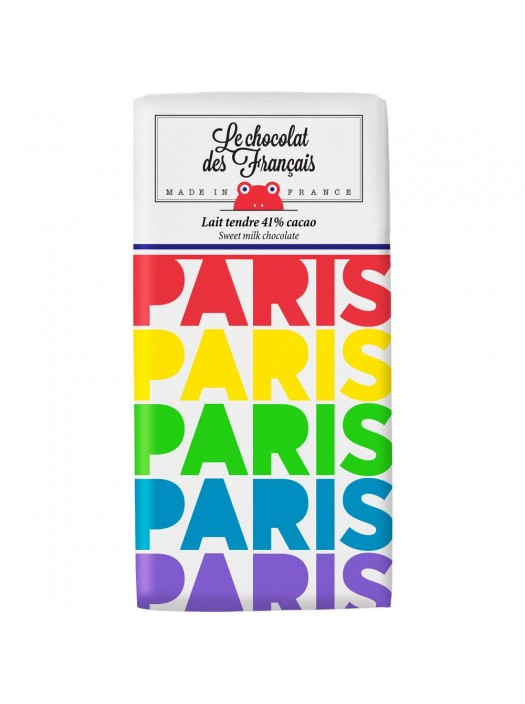 Tablette de Chocolat Lait Paris Arc En Ciel