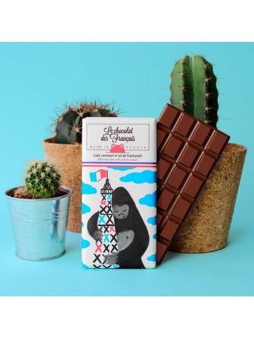 Milk Chocolate Bar with Salted Caramel King Kong - Organic