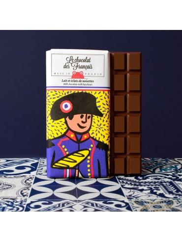 Milk Hazelnuts  Chocolate Bar Napoléon - Organic