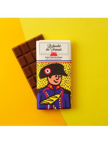 Tablette de Chocolat Lait Noisettes - Napoléon - Bio