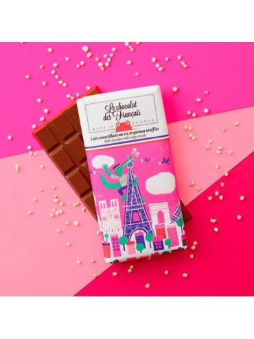 Milk & Crispy Cereals Chocolate Bar  - Organic