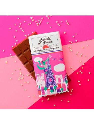 Tablette de Chocolat Lait Lait Croustillant aux Céréales - Bio