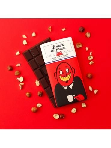 Dark Chocolate with Hazelnuts - Organic