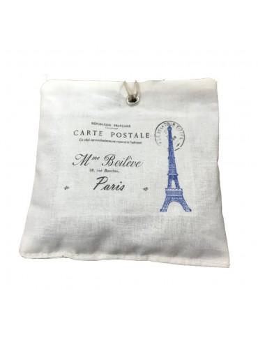 Organic Lavandin sachet  Blue Eiffel Tower