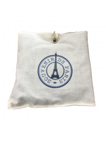 Organic Lavandin sachet  Blue Eiffel Tower Souvenir de Paris