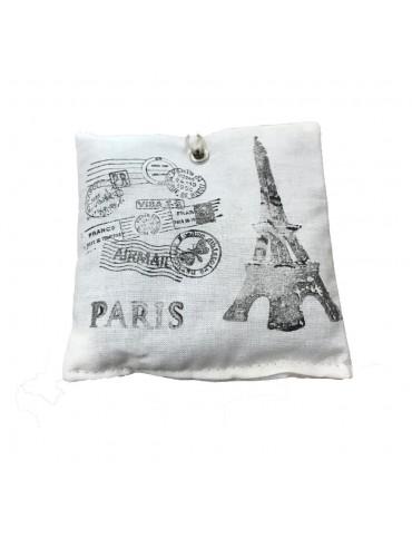 Organic Lavandin sachet  Eiffel Tower Black and White